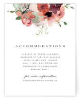 This is a green enclosure card by Leah Bisch called Cascading Florals with standard printing on signature in standard.