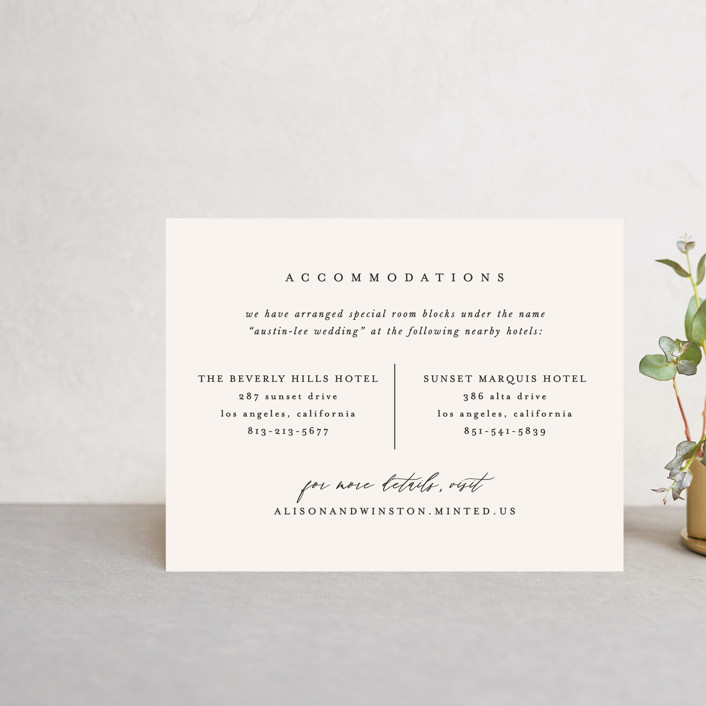 """""""Timeless"""" - Direction Cards in Taupe by Leah Bisch."""