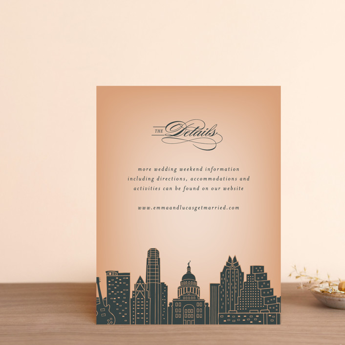 """""""Big City - Austin"""" - Direction Cards in Peach by Hooray Creative."""