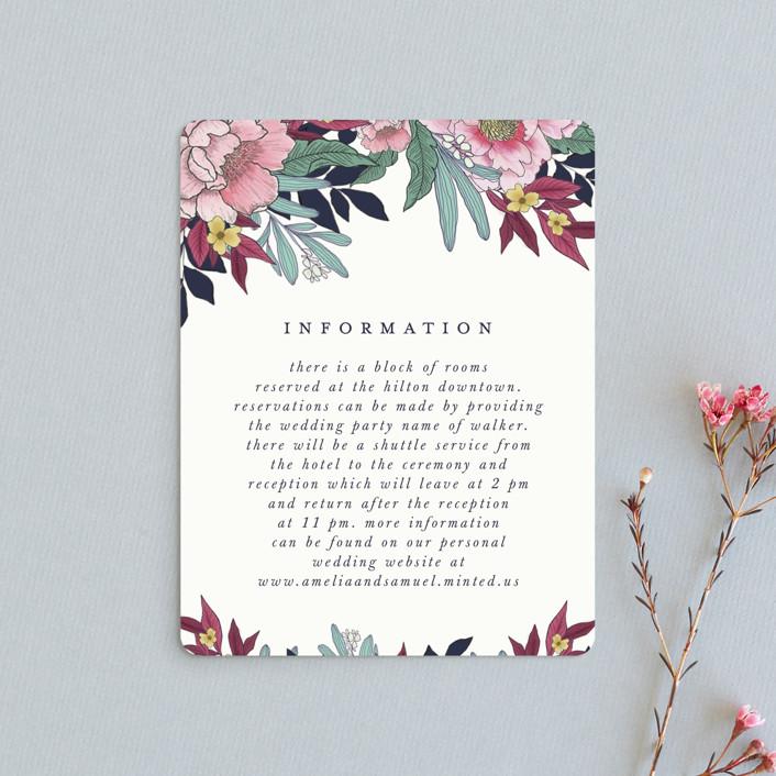 """""""Vintage Boughs"""" - Direction Cards in Merlot by Grace Kreinbrink."""