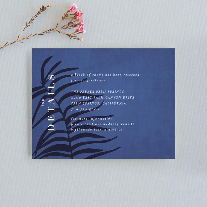 """Acapulco"" - Direction Cards in Indigo by Angela Marzuki."