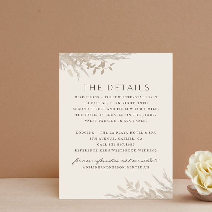 """""""Preserved Fall Botanicals"""" - Bohemian Direction Cards in Linen by Erin Deegan."""