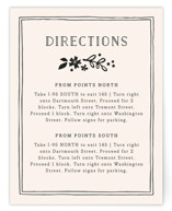 Alabaster Florals Direction Cards