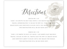 Watercolor Floral Direction Cards