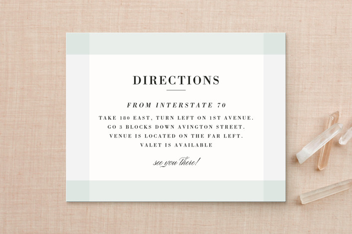 """Creme Brulee"" - Elegant Direction Cards in Mint by chocomocacino."