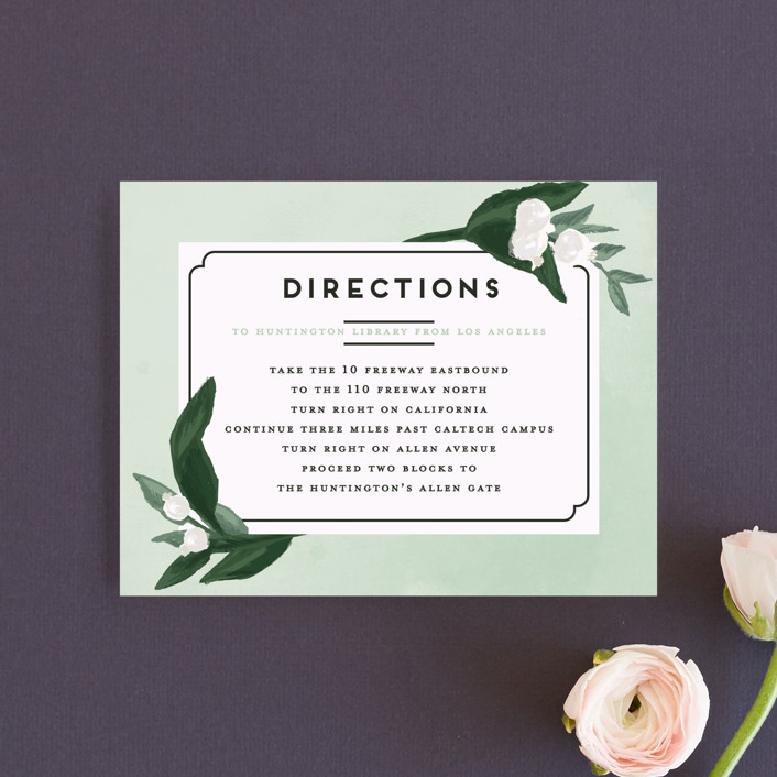 """""""Botanical Name Plate"""" - Direction Cards in Sage by Shiny Penny Studio."""