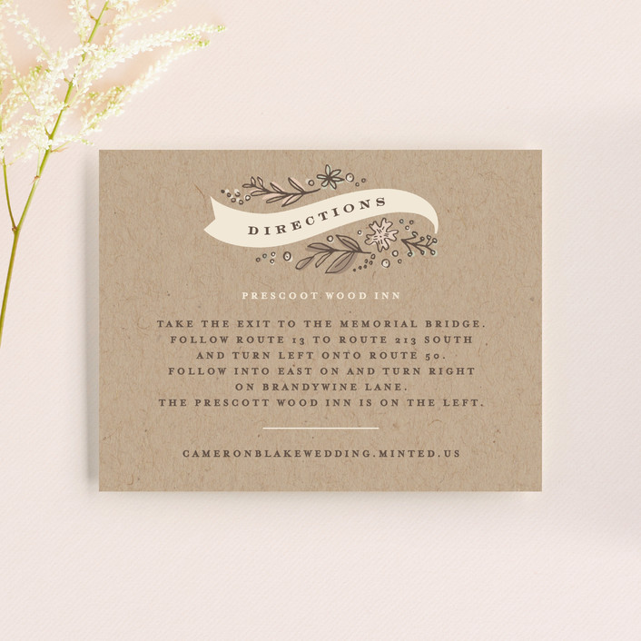 """""""Rustic Banner"""" - Rustic Direction Cards in Kraft by Jennifer Wick."""