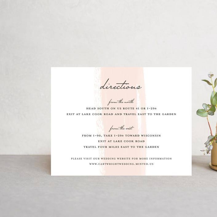 """Single Swath"" - Direction Cards in Blush by Angela Marzuki."