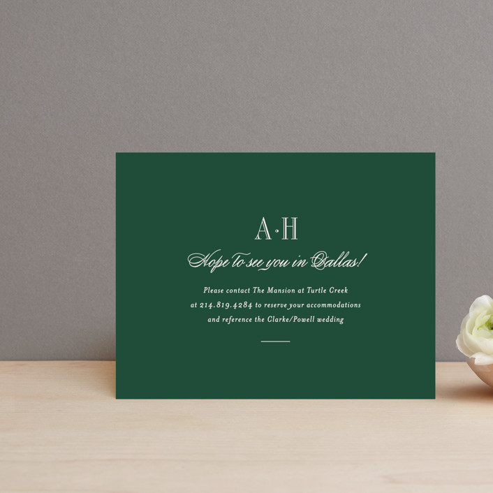 """Hepburn"" - Elegant, Classical Direction Cards in Rose by Toast & Laurel."