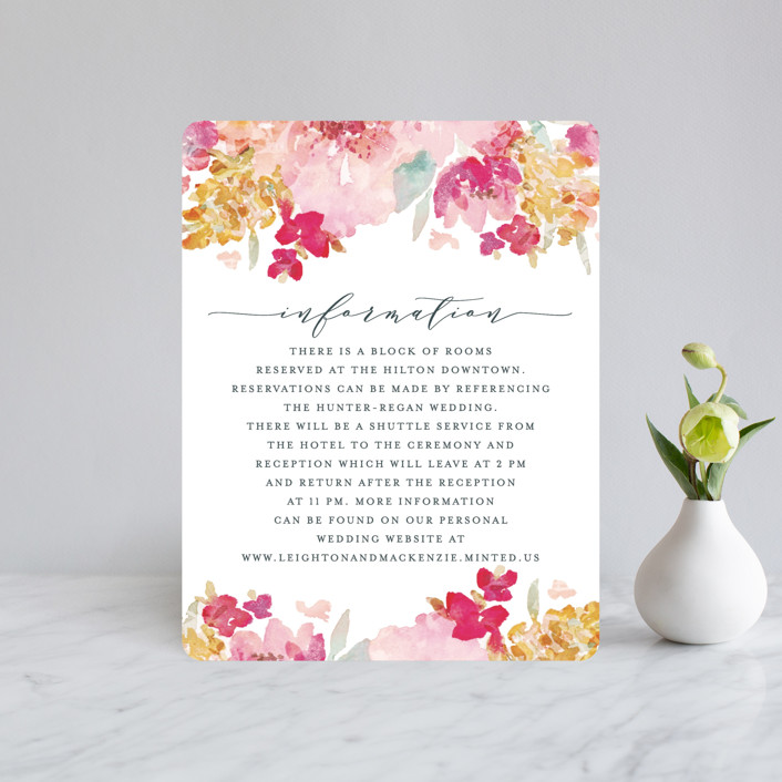 """Spring Garden"" - Direction Cards in Petal by Grace Kreinbrink."