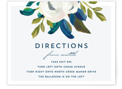 Our Something Blue Directions Cards