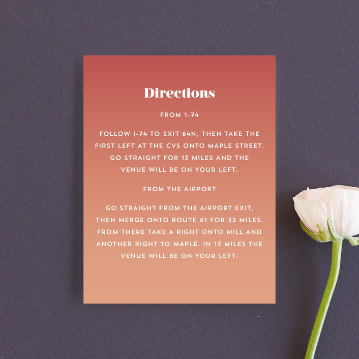 """""""Rainbow Roll"""" - Direction Cards in Coral by Katharine Watson."""