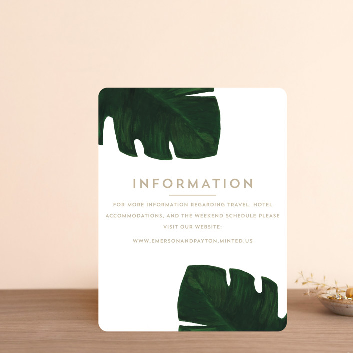 """""""Palm"""" - Direction Cards in Classic Palm by Kaydi Bishop."""