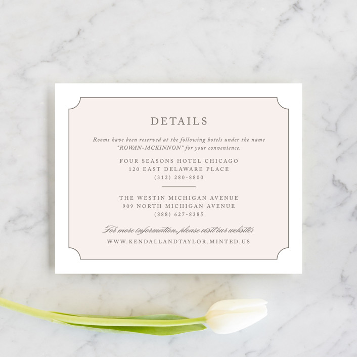 """Subtly Sweet"" - Direction Cards in Pale Pink by Kimberly FitzSimons."
