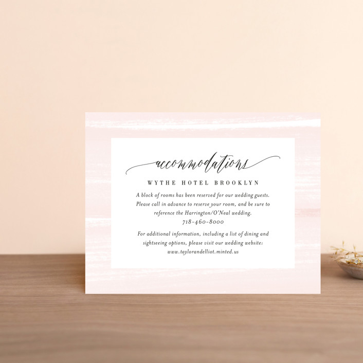 """""""Effervescent"""" - Direction Cards in Blush by Kristie Kern."""