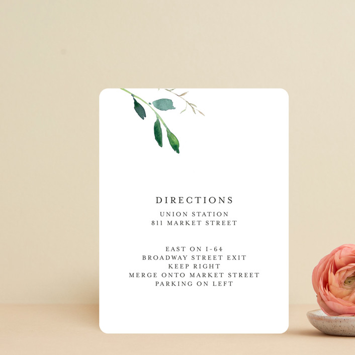 """""""Spring Wildflowers"""" - Direction Cards in Floral by Mere Paper."""