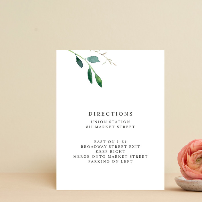 """Spring Wildflowers"" - Direction Cards in Floral by Mere Paper."