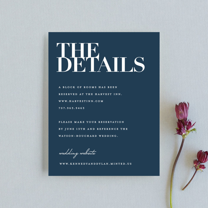 """""""The Minimalist"""" - Direction Cards in Pearl by Kelly Schmidt."""