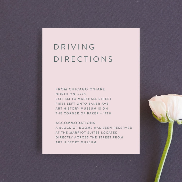 """""""Minimal Modern"""" - Direction Cards in Cotton Candy by Nikkol Christiansen."""