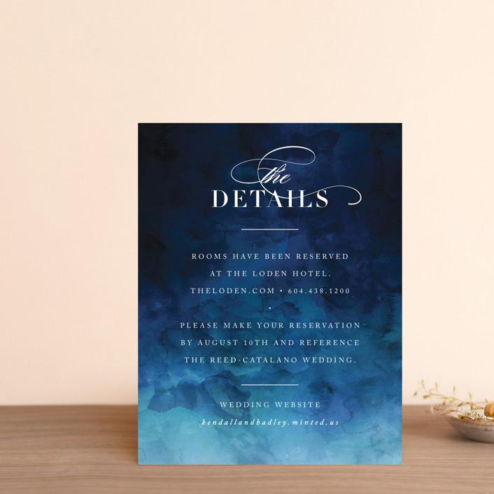 """Indigo Sea"" - Direction Cards in Ocean by Kelly Schmidt."