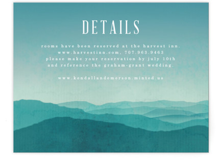 Misty Mountain Range Directions Cards