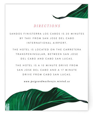 Mod Palm Directions Cards