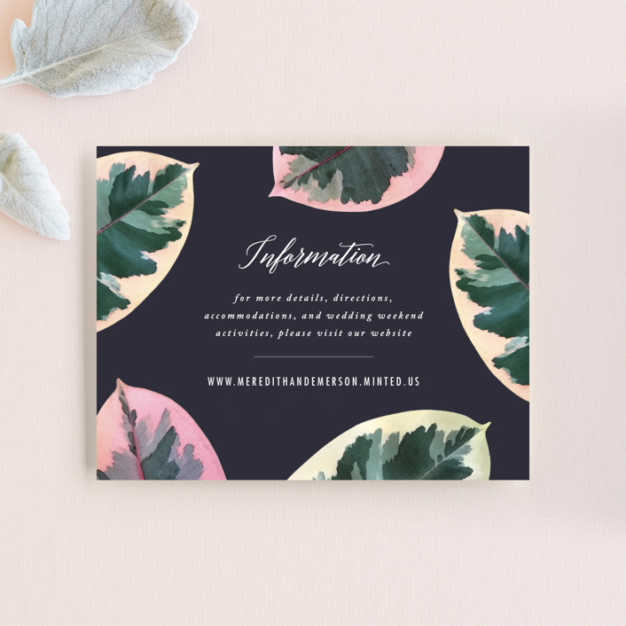 """""""Painterly Plant"""" - Direction Cards in Midnight by Hooray Creative."""