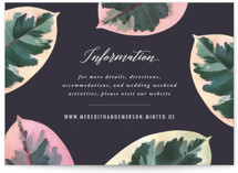 This is a purple enclosure card by Hooray Creative called Painterly Plant with standard printing on signature in standard.