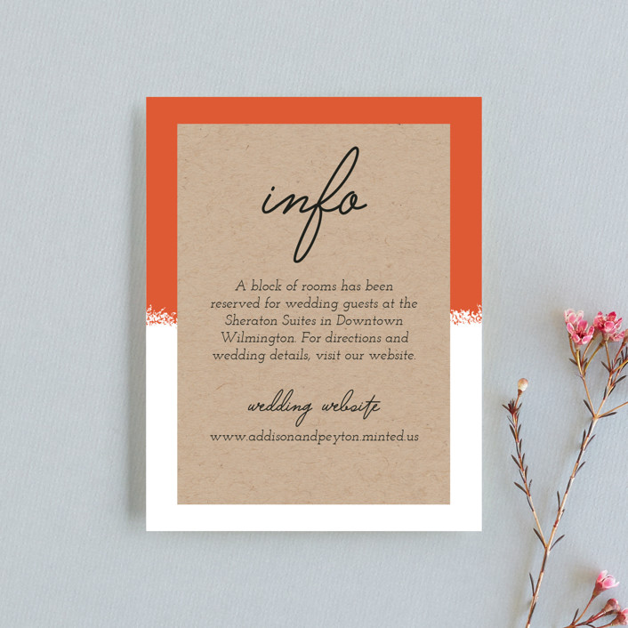 """""""Joyfully Ever After"""" - Direction Cards in Tangerine by Faiths Designs."""