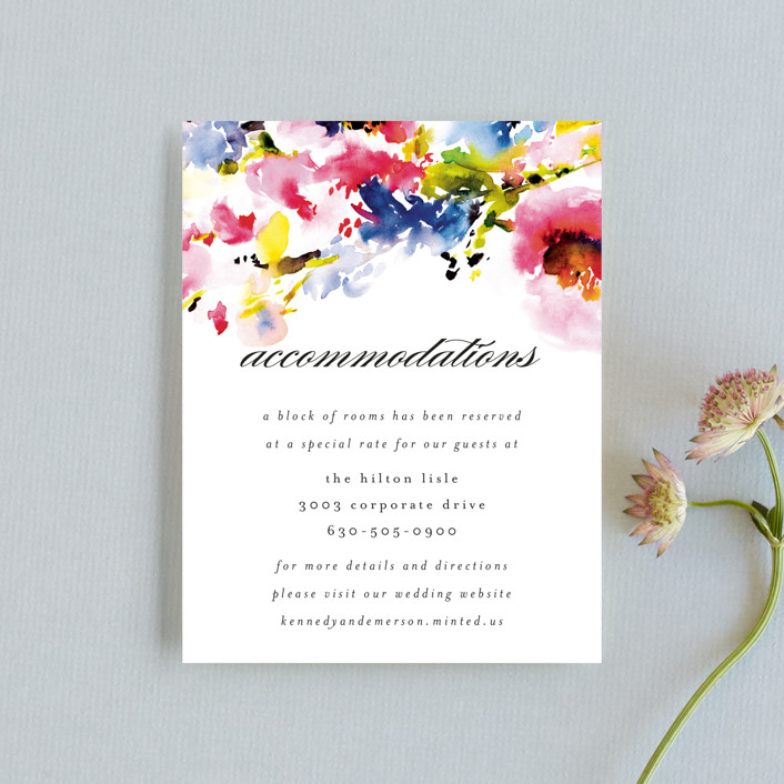 """""""Technicolor Flora"""" - Direction Cards in Poppy by Angela Marzuki."""