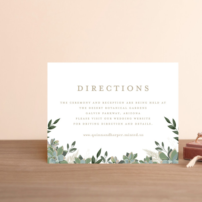 """""""Succulent Surround"""" - Direction Cards in Cloud by Susan Moyal."""