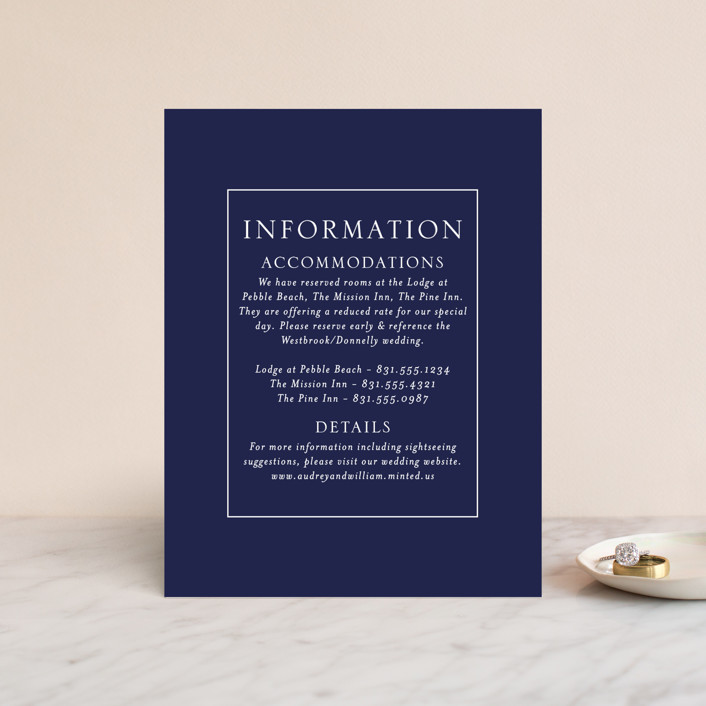 """""""blue tides"""" - Direction Cards in Sea Blue by Erin Deegan."""