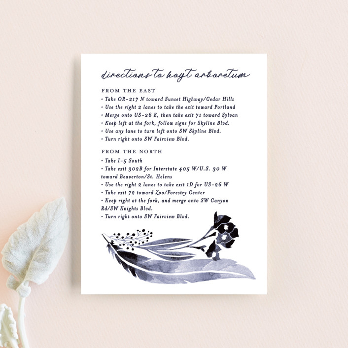 """""""feathers & florals"""" - Bohemian Direction Cards in Dusk by Olivia Raufman."""