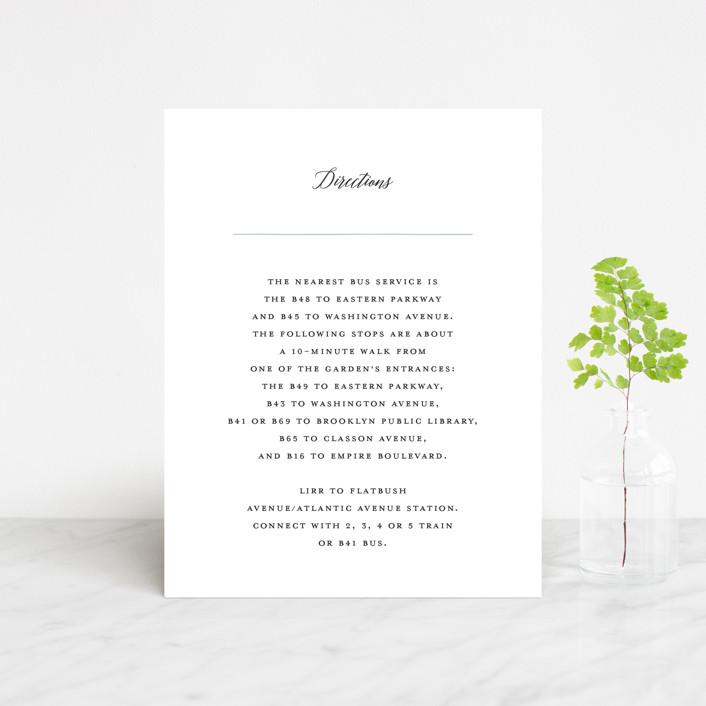 """""""Grande Botanique"""" - Direction Cards in Mist by Bonjour Paper."""