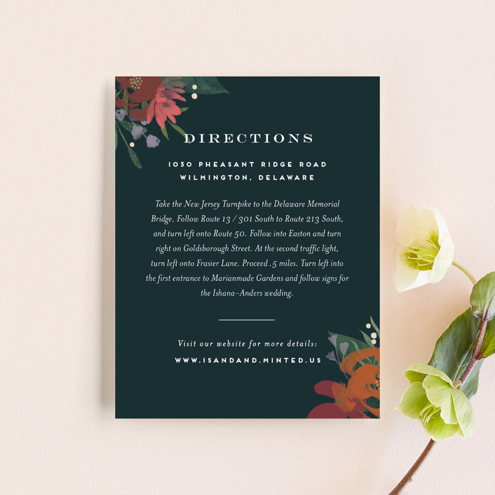 """Midnight Garden"" - Direction Cards in Deep Sea by Jennifer Wick."