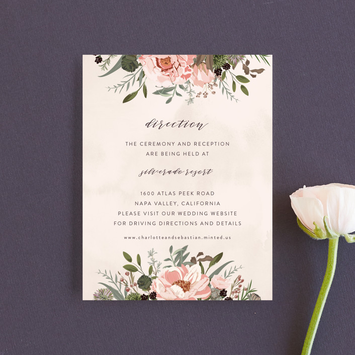 """Desert Blooms"" - Direction Cards in Blush by Susan Moyal."