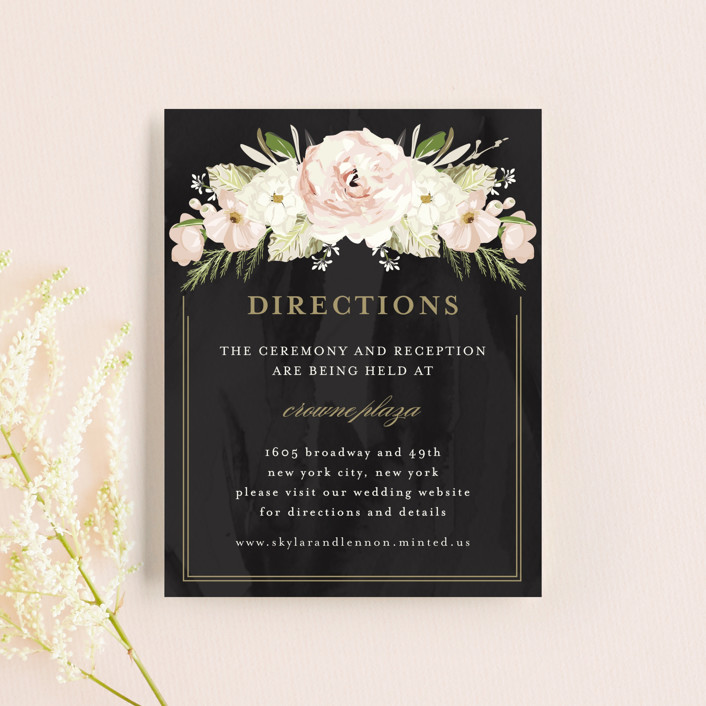 """Forever"" - Direction Cards in Blush by Susan Moyal."