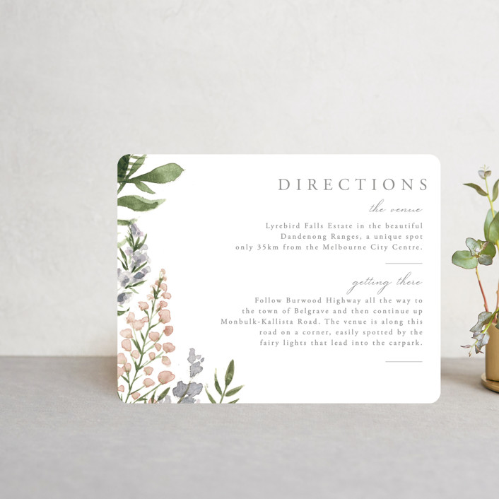 """""""Spring Wildflowers"""" - Direction Cards in Garden by Christie Elise."""