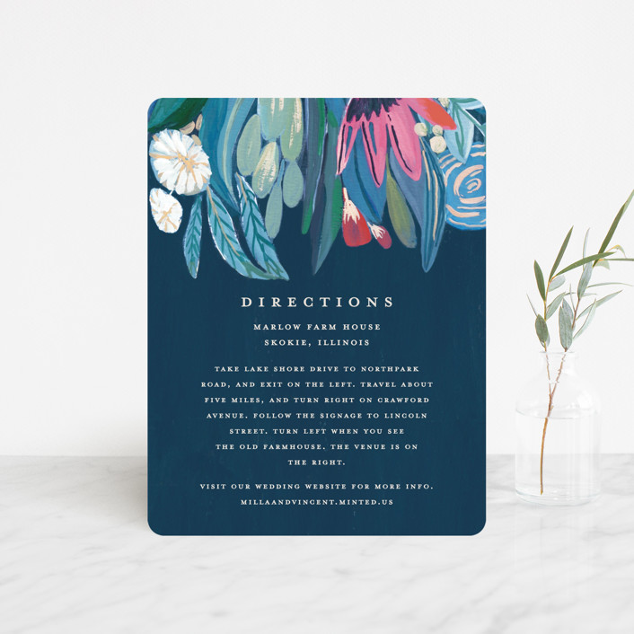 """""""Floral Burst"""" - Direction Cards in Ocean by Morgan Ramberg."""