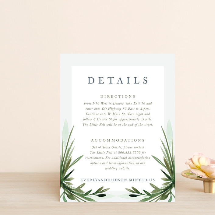 """Botanical Frame"" - Direction Cards in Fern by Kate Ahn."