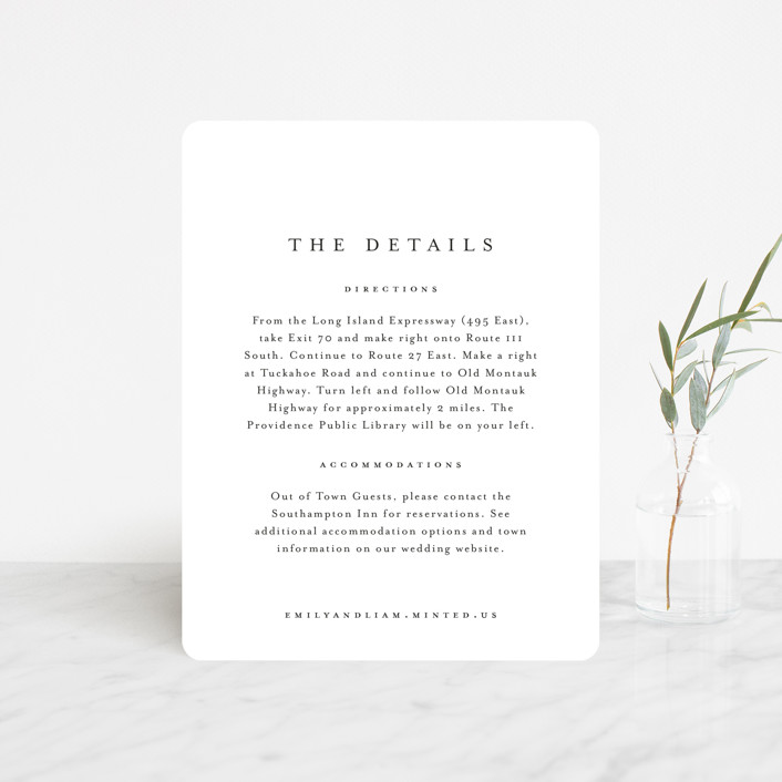 """""""A Thousand Years"""" - Direction Cards in Classic White by Design Lotus."""