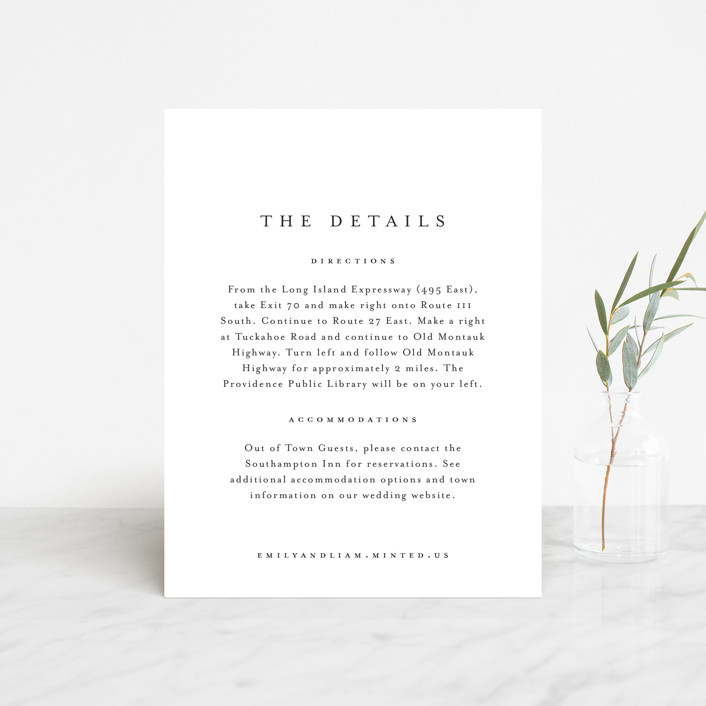 """A Thousand Years"" - Direction Cards in Classic White by Design Lotus."
