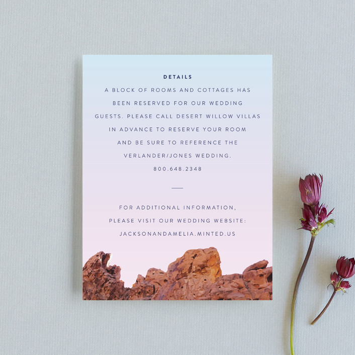 """""""Desert Rocks"""" - Destination, Modern Direction Cards in Sunset by Owl and Toad."""