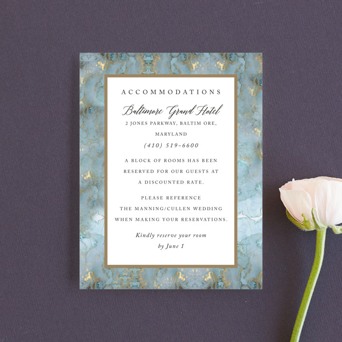"""Something Blue"" - Direction Cards in Aqua by Benita Crandall."