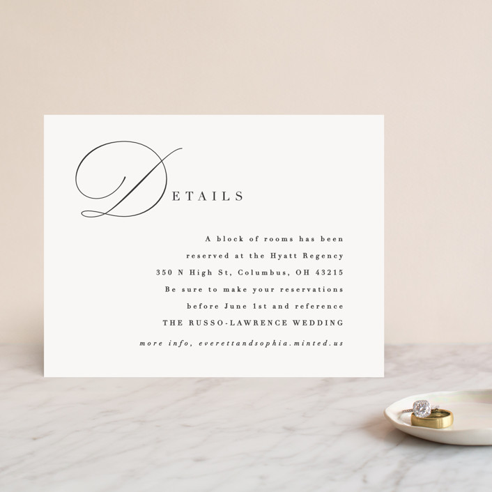 """""""Flowing Initials"""" - Direction Cards in Ivory by Hooray Creative."""