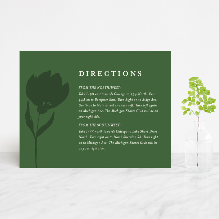 """Flourishing"" - Direction Cards in Bloom by Beth Schneider."