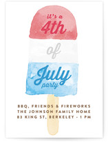 Painted Popsicle 4th of July Online Invitations