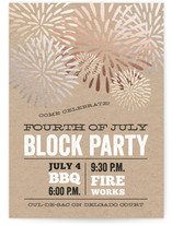July Fourth Bash 4th of July Online Invitations