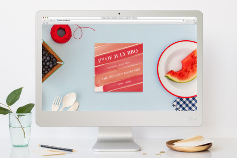 Painterly Stripe 4th of July Online Invitations