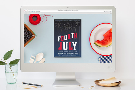 The Fourth 4th of July Online Invitations